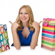 Happy girl after good shopping — Stock Photo #13300183