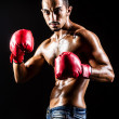 Young man with boxing gloves — Stock Photo
