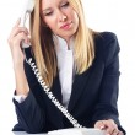 Businesswoman talking on the phone — Stock Photo #13406549