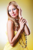 Young woman in fashion shoot — Stock Photo