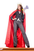 Businesswoman in superwoman concept — Stock Photo