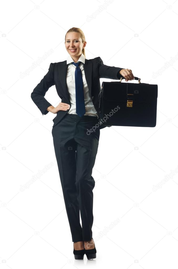Young businesswoman with briefcase — Stock Photo #13400783