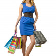 Attractive girl with shopping bags — Stock Photo #13410692