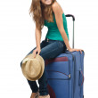 Young woman ready for summer vacation — Stock Photo #13633208