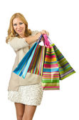 Attractive girl with shopping bags — Стоковое фото