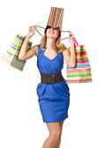 Iyi alışveriş sonra mutlu kız — Stok fotoğraf