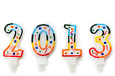 2013 made with cake candles — Stock Photo