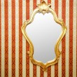 Ornate mirror on the wall - Stok fotoraf