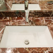 Stock Photo: Sink in marble stand