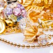 Large collection of gold jewellery — Stock Photo #13873548