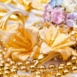 Large collection of gold jewellery — Stock Photo #13873554
