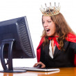 Office queen isolated on the white — Stock Photo #13873719