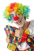 Funny clown on the white — Stock Photo