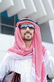 Arab on the street in summer — Stock Photo