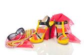 Ayakkabı ve diğer kadın aksesuarları — Stok fotoğraf
