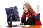 Office queen isolated on the white — Stock Photo