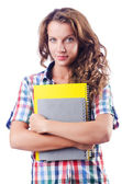Young student isolated on the white — Stock Photo