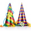 Stock Photo: Party items on the white