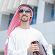 Arab on the street in summer — Stock Photo #14049151
