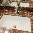 Sink in marble stand — Stock Photo #14050746