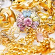 Large collection of gold jewellery — Stock Photo #14052047