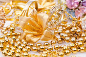 Large collection of gold jewellery — Стоковое фото
