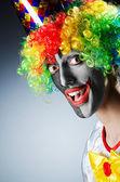 Funny clown in studio shooting — Stock Photo