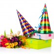Stock Photo: Party items on white