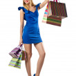 Happy woman after christmas shopping — Stock Photo #14367883