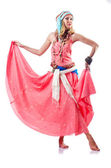 Dancer dancing spanish dances — Stock Photo