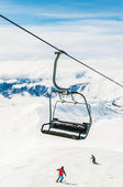 Skilift on bright winter day — Stock Photo