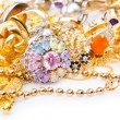 Large collection of gold jewellery — Stock Photo #14376147