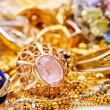 Large collection of gold jewellery — Stock Photo #14376187