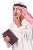 Arab man praying on white — Stock Photo