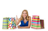 Happy girl after good shopping — Stock Photo