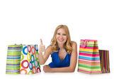 Ragazza felice dopo buon shopping — Foto Stock