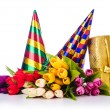 Party items on the white — Stock Photo #14759669