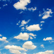 Bright blue sky in summer day — Stock Photo