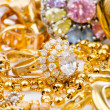 Large collection of gold jewellery — ストック写真