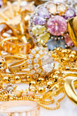 Large collection of gold jewellery — Foto de Stock