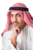 Young arab isolated on the white — Stock Photo