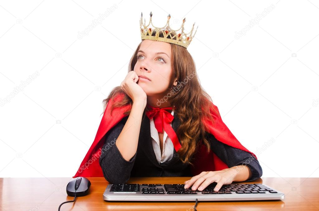 Office queen isolated on the white — Stock Photo #14772269