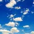Bright blue sky in summer day — Stockfoto