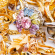 Large collection of gold jewellery — Stock Photo #15162675