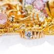 Large collection of gold jewellery — Stock Photo #15163325