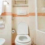 Toilet in the modern bathroom — Stock Photo