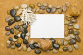 Blank message on the sand — Stock Photo
