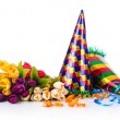 Party items on the white — Stock Photo