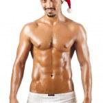 Nude Santa isolated on white — Stock Photo