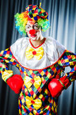 Funny clown in the studio shooting — Stock Photo